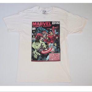 Marvel Comic Book Cover Avengers Shirt M